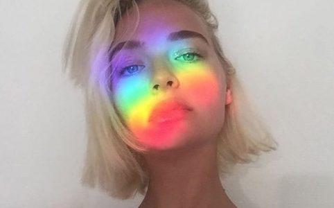 как сделать радугу на фото