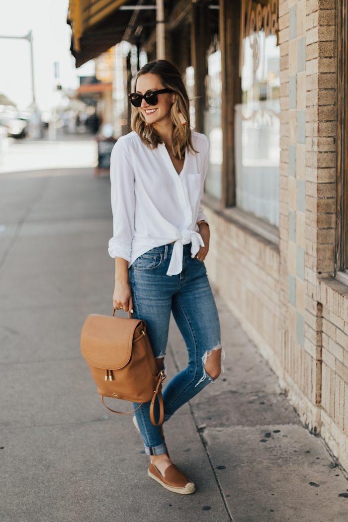белый рюкзак с чем носить фото для