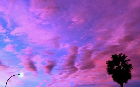 цветное небо на фото
