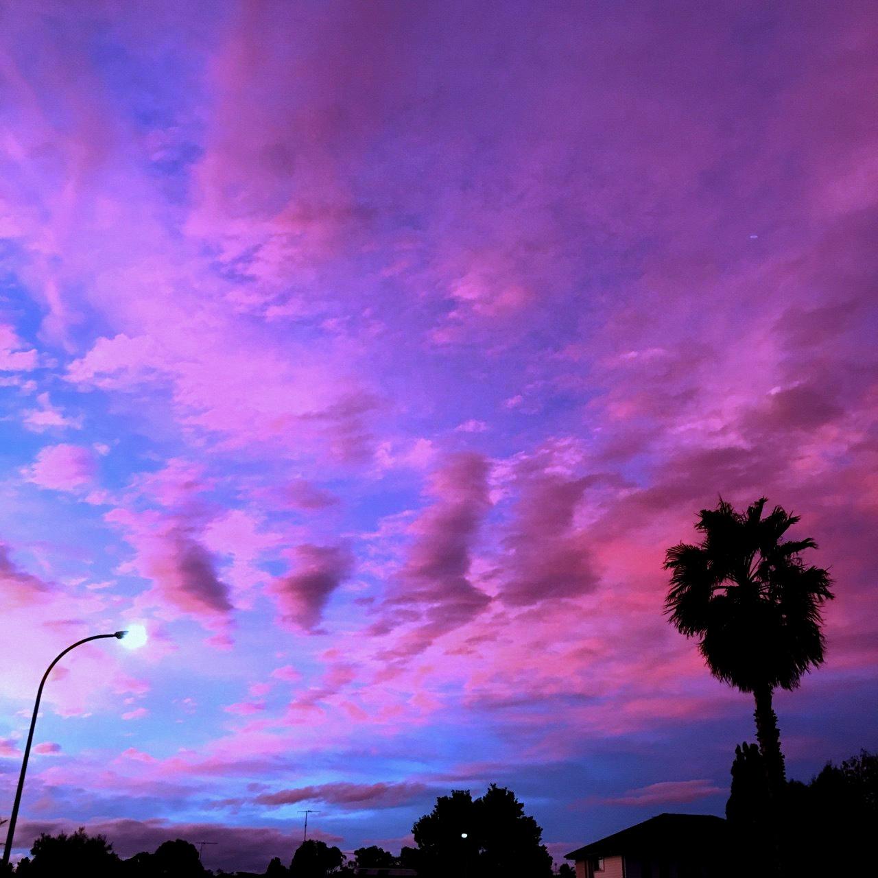 внешне как сделать розовое небо на фото как