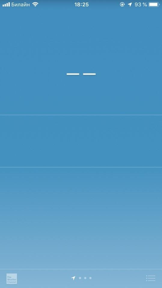 Не показывает погоду на айфоне по геолокации.