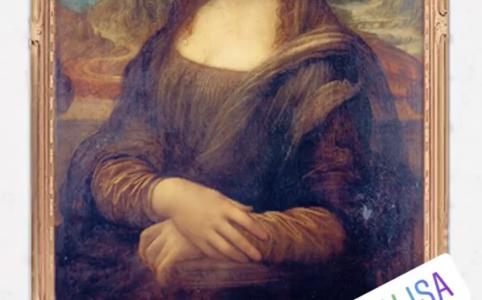 Поющая Мона Лиза или фильтр говорящие картины