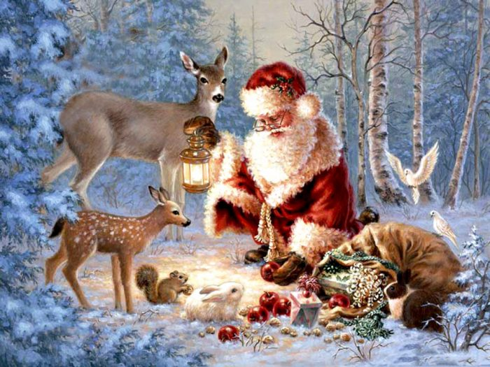 рождественские гадания открытки