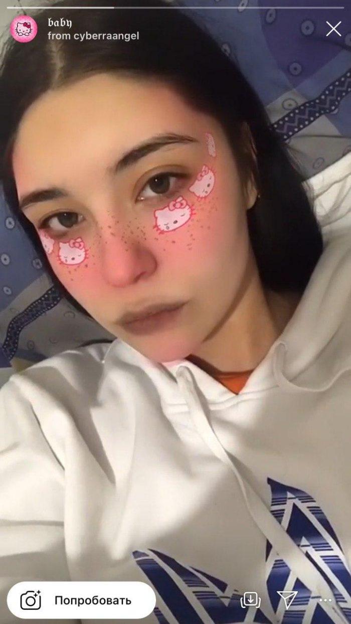 маска хелло китти в инстаграме