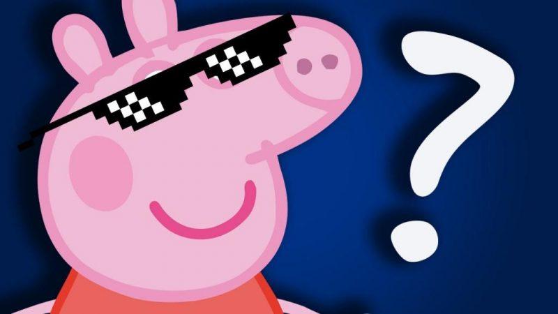 Маска герои из Свинка Пеппа в инстаграме