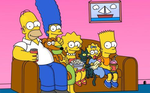 симпсоны сидят на диване