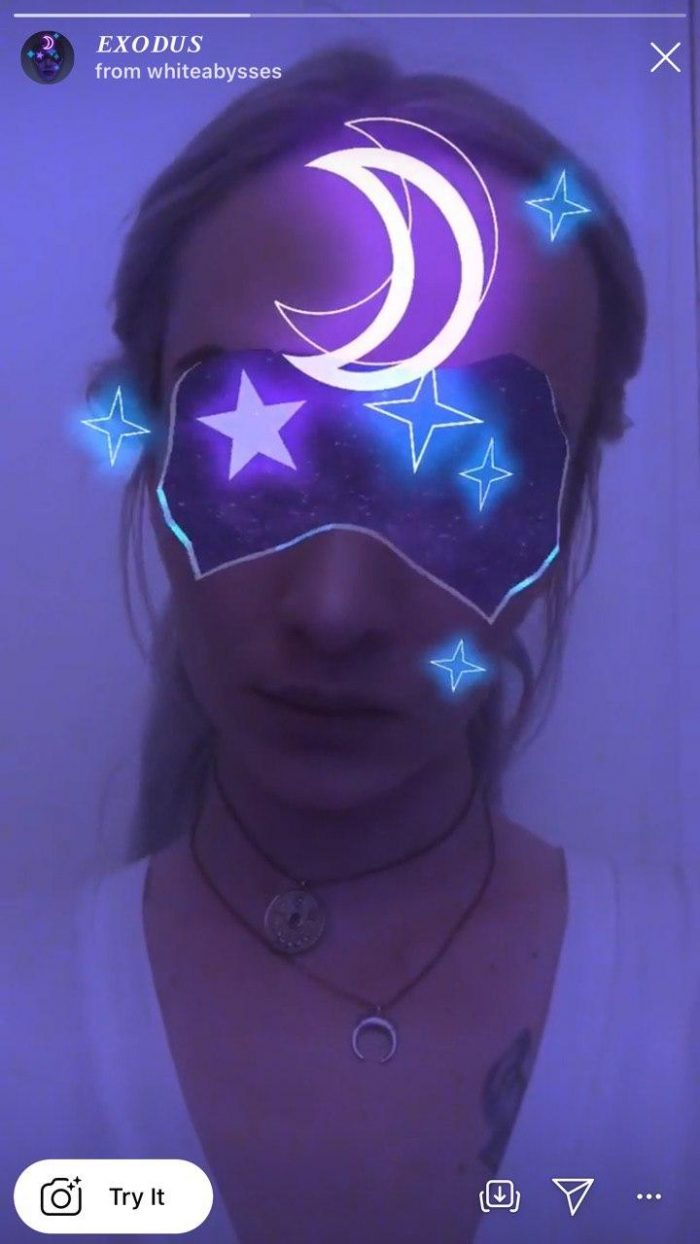 Космические маски в инстаграме