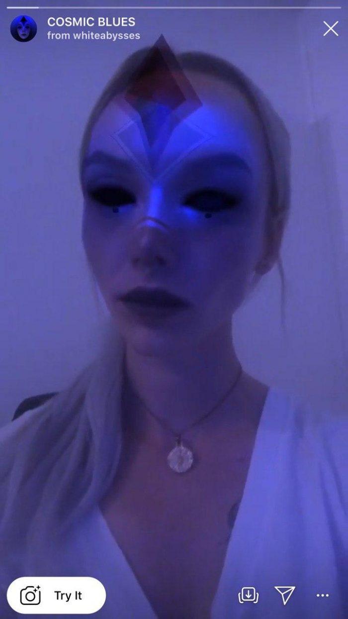 неоновые маски в инстаграме