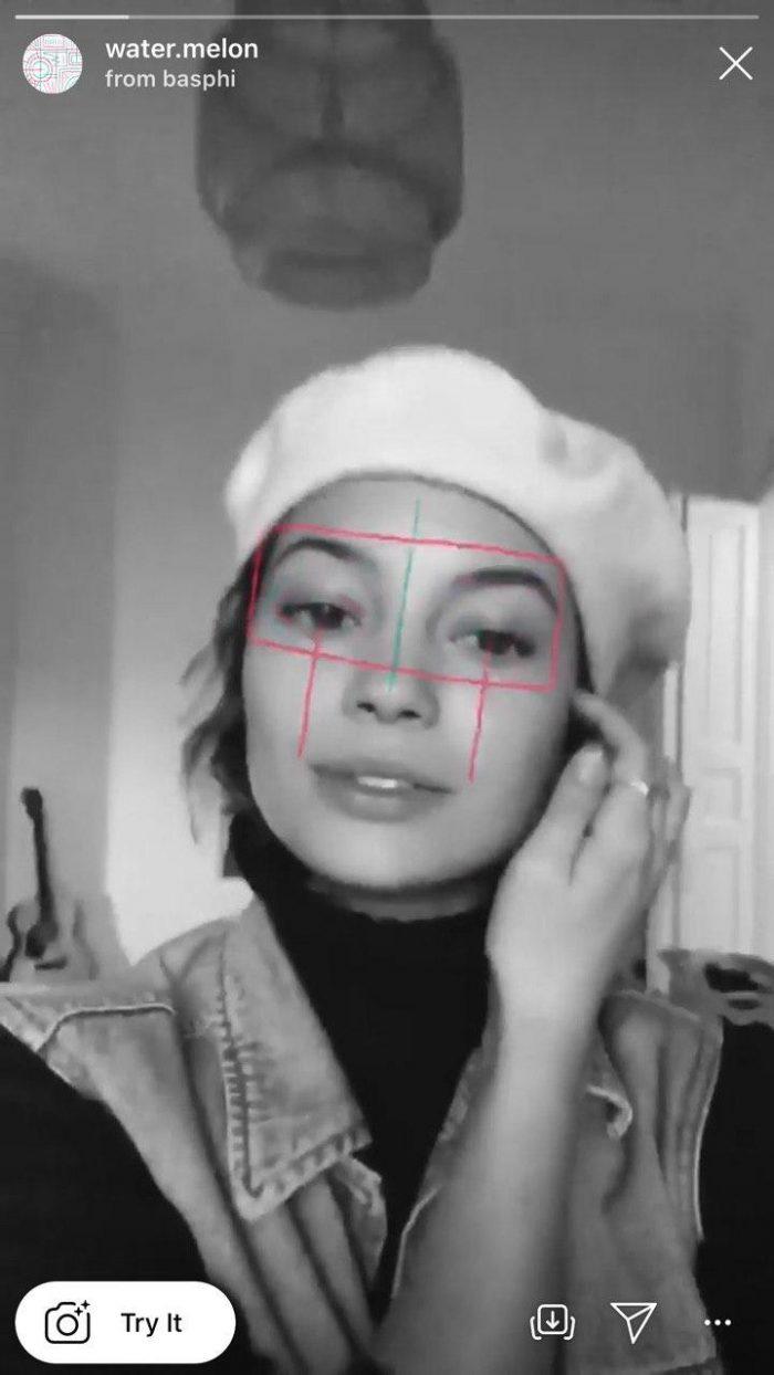 Маски с рисунками на лице в инстаграме
