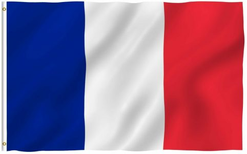 Маска французский флаг в инстаграме