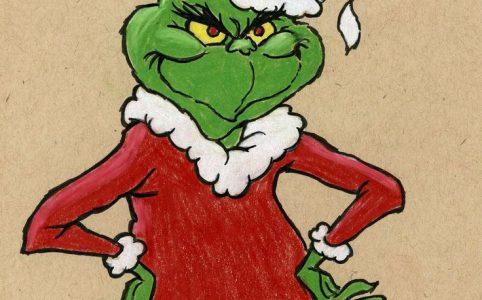 Маска в инстаграме Гринч - похититель Рождества