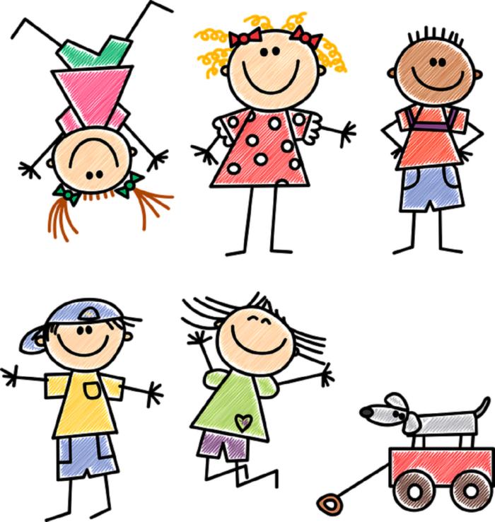 нарисованные дети картинка