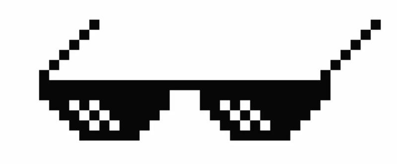 Маска с очками-пикселями в ТикТоке