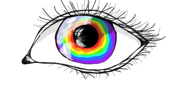 Маска с радужными глазами в ТикТоке