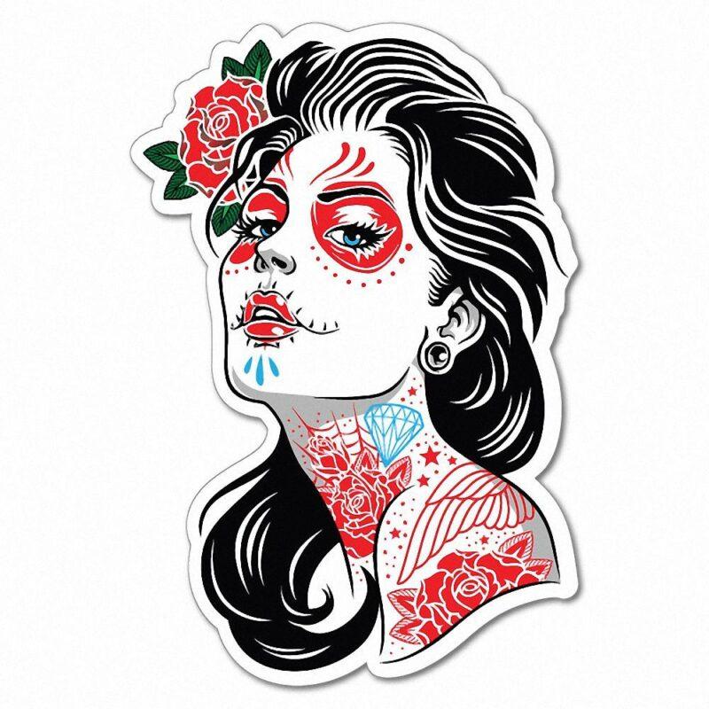 Маска с татуировками на лице в ТикТоке