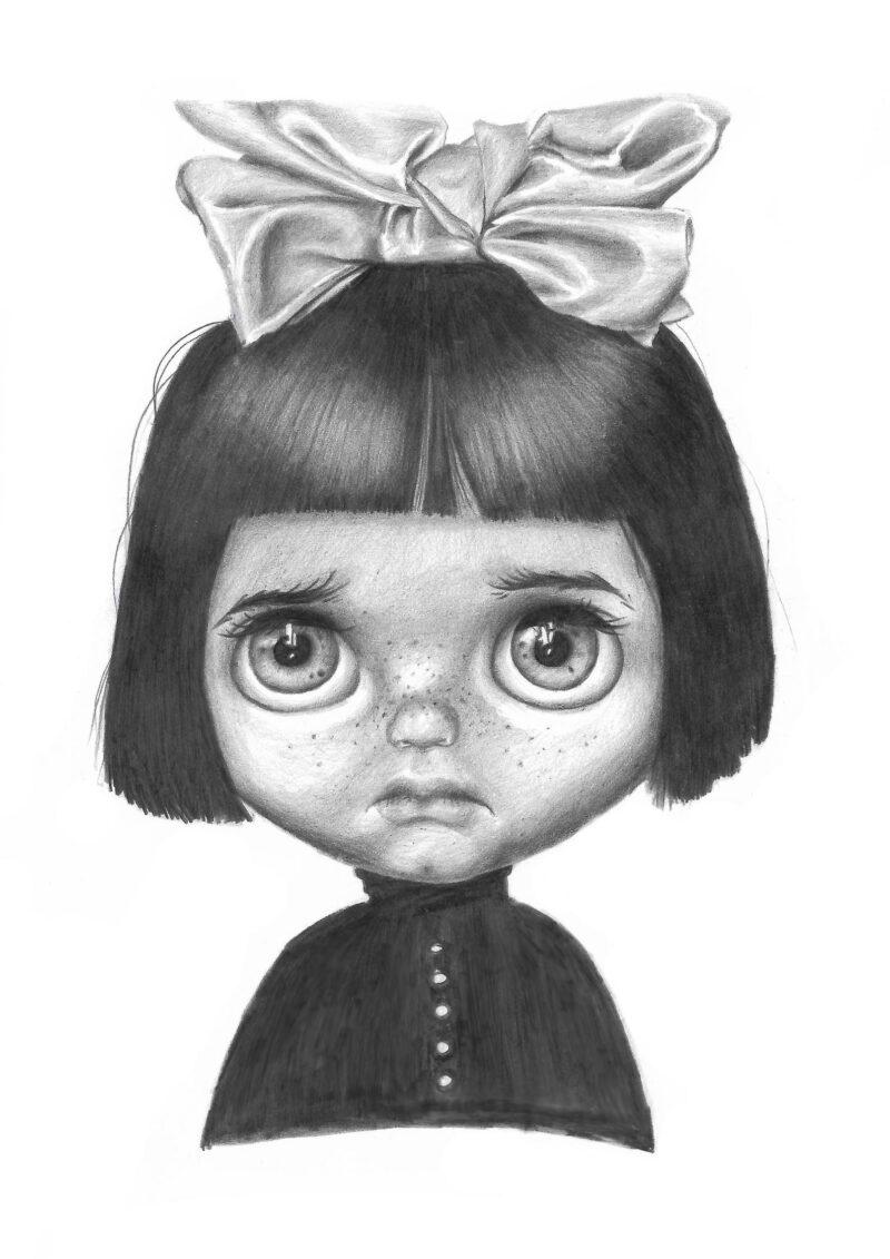 Маска Страшная кукла в ТикТоке
