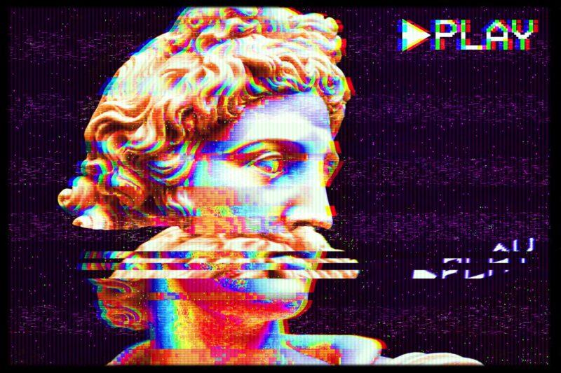 VHS эффект в ТикТоке